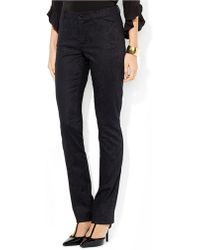 Lauren by Ralph Lauren Stretch Jacquard Straight Pant - Lyst