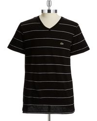 Lacoste Striped Tshirt - Lyst