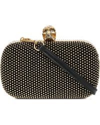 Alexander McQueen Classic Skull Studded Box Clutch Bag - For Women - Lyst