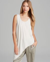 Eileen Fisher Petites Silk Asymmetric Hem Top - Lyst