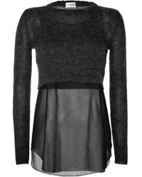 Philosophy di Alberta Ferretti Mohairchiffon Layered Top - Lyst