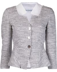 Philosophy di Alberta Ferretti Tweed Jacket - Lyst