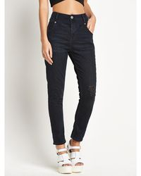 River Island Mom Slim Jeans - Lyst