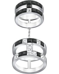 Swarovski Viktor and Rolf Frozen Crystals Double Ring - Lyst