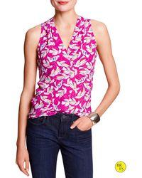Banana Republic Factory Vee Shell Pink Print - Lyst