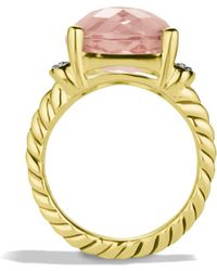 David Yurman - Wheaton Ring with Morganite - Lyst