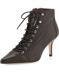 Etienne Aigner - Lana Leather Lace-up Bootie - Lyst