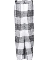 Acne Studios Elfa Linen Trousers - Lyst