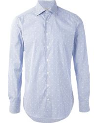 Etro Striped and Embroidered Shirt - Lyst