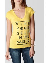 True Religion Find Yourself in The Music Vneck Womens Tshirt - Lyst