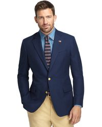 Brooks Brothers Own Make Dark Blue Cotton 101 Sport Coat - Lyst