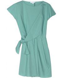 Carven Poplin Tie Waist Dress - Lyst