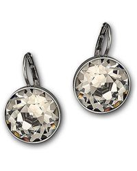 Swarovski Bella Nude Crystal Mini Drop Earrings silver - Lyst
