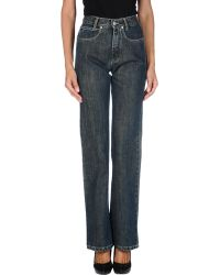 Burberry Denim Pants - Lyst
