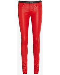 Helmut Lang High Gloss Vian Legging Red - Lyst