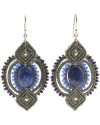 Leju Macrame Lapis Lazuli Detai Earringsl - Lyst