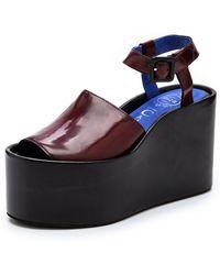 Jeffrey Campbell Chynna Flatform Sandals Wine - Lyst