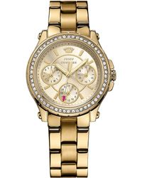 Juicy Couture - Ladies Goldtone Crystallized Pedigree Watch - Lyst