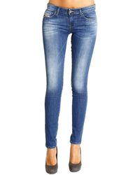 Diesel  Denim Skinzee-low Used Super Skinny Jeans - Lyst
