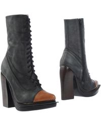 Jeffrey Campbell Gray Ankle Boots - Lyst