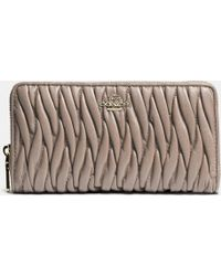 Coach Accordion Zip Wallet In Gathered Leather - Lyst