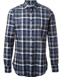Etro Checked Shirt - Lyst
