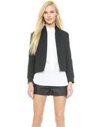 Victoria Beckham Sports Jacket - Navy - Lyst
