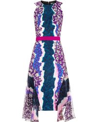 Peter Pilotto Flux Contrast-Print Crepe Dress - Lyst