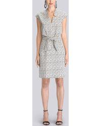 Natori Raindrops Tie Front Sleeveless Dress - Lyst