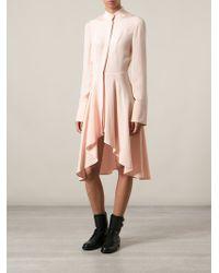 Alexander McQueen Waterfall Hem Dress - Lyst
