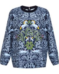 Mother Of Pearl Dover Embroidered Unicorn Sweatshirt - Lyst