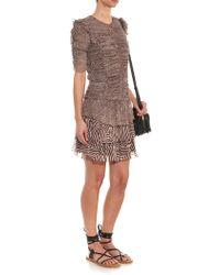 Etoile Isabel Marant Danbury Printed Chiffon Dress - Lyst