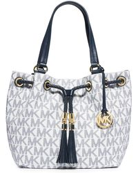 MICHAEL Michael Kors Jetset Gathered Tote blue - Lyst