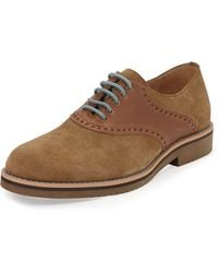 Joseph Abboud Cooper Laceup Suede Wingtip Sand 8 12 - Lyst