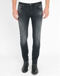 HUGO Faded Grey Skinny 734 Jeans blue - Lyst