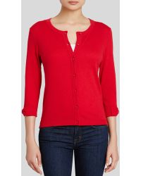 Kate Spade Somerset Bow Cuff Cardigan red - Lyst