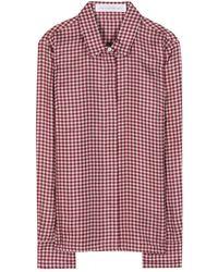 Victoria Beckham Silk Shirt - Lyst