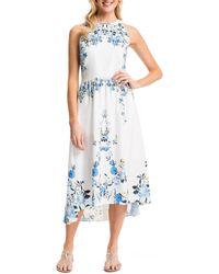 Cynthia Steffe Sydney Floral-Print Maxi Dress white - Lyst