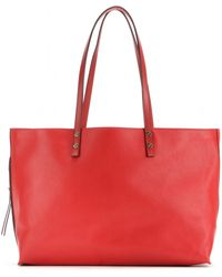 Chloé Dilan Large Leather Shopper - Lyst