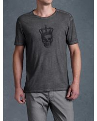 John Varvatos Skull Crown Graphic Tee - Lyst