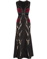 Alexander McQueen Embellished Satin-Crepe Gown - Lyst