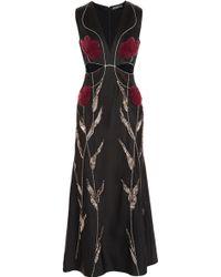 Alexander McQueen Embellished Satincrepe Gown - Lyst