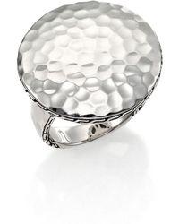 John Hardy Palu Sterling Silver Round Ring - Lyst