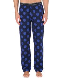 Paul Smith Polkadot Cotton Pyjama Trousers Navy - Lyst