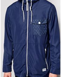 Clwr - Wind Jacket With Hood Water Repellent - Lyst