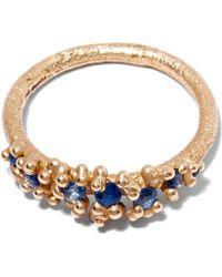 Ruth Tomlinson Gold Sapphire Granulate Ring