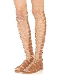 Zimmermann Gladiator Sandals - Nude beige - Lyst