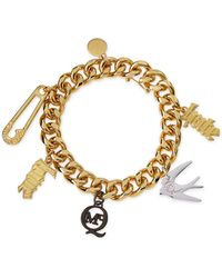 McQ by Alexander McQueen Light Golden Lovehate Charm Bracelet - Lyst