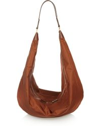 The Row The Sling Leathertrimmed Satintwill Shoulder Bag - Lyst