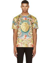 Versus  Yellow Jungle Multi_print T_shirt - Lyst
